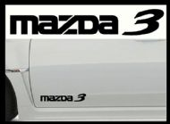 MAZDA 3 CAR BODY DECALS